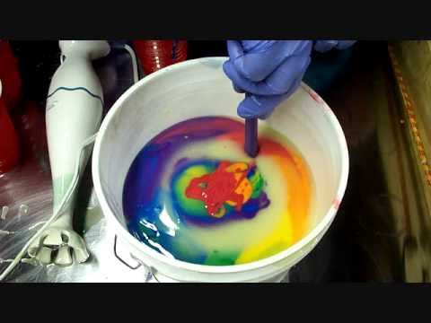 6 Color In The Pot Soap Swirling - YouTube