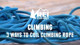 Good rope management ensures that you don't arrive at the crag with your rope in a tangled mess of knots. In this video, Miranda shows you three different ways ...