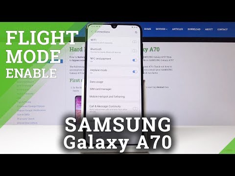 How To Enable Flight Mode In SAMSUNG Galaxy A70 - Enable / Disable Airplane Mode