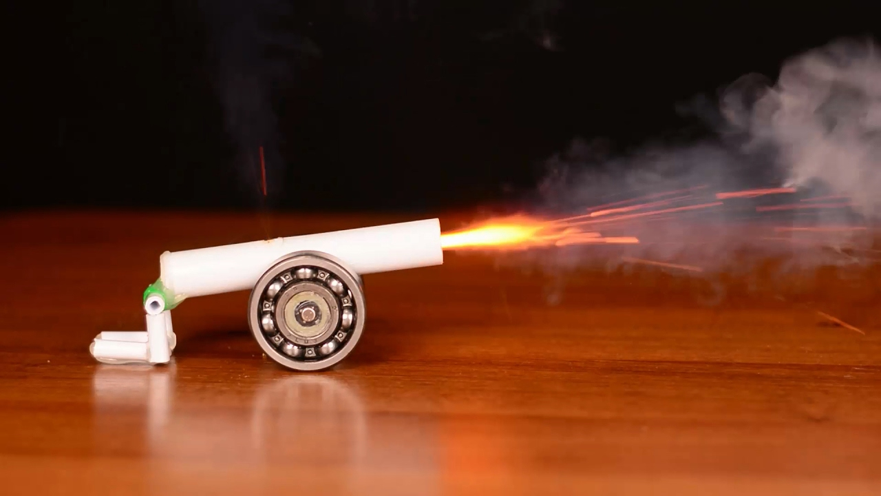 Как сделать пушку в домашних фото 790