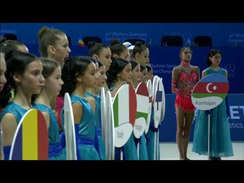 Baku 2014 - Rhythmic Europeans - Opening Ceremony (part 1)