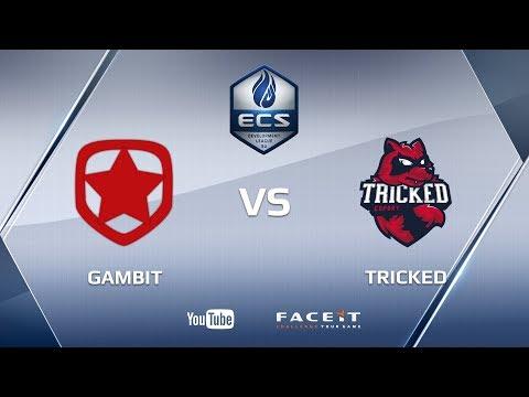 Gambit vs Tricked, map 2, nuke, ECS Season 4 EU Development League