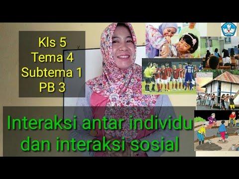 Interaksi Antar Individu Dan Interaksi Sosial Kls 5 Tema 4 Subtema 1 Pb 3 Youtube