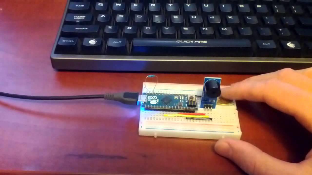 Morse code USB keyboard