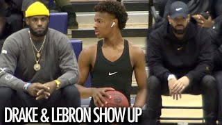 Drake And Lebron Show Up To Watch Bronny James And Sierra Canyon GO TO WORK!