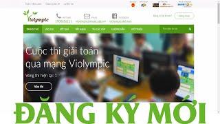 Hướng dẫn Đăng ký tài khoản mới trên Violympic