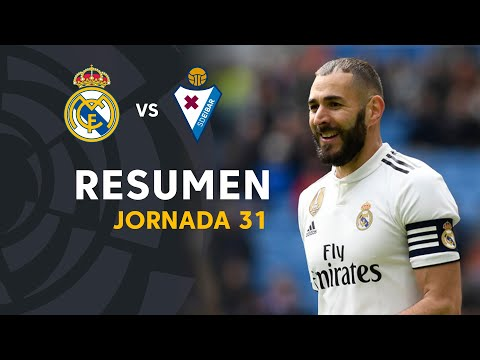Resumen de Real Madrid vs SD Eibar (2-1)
