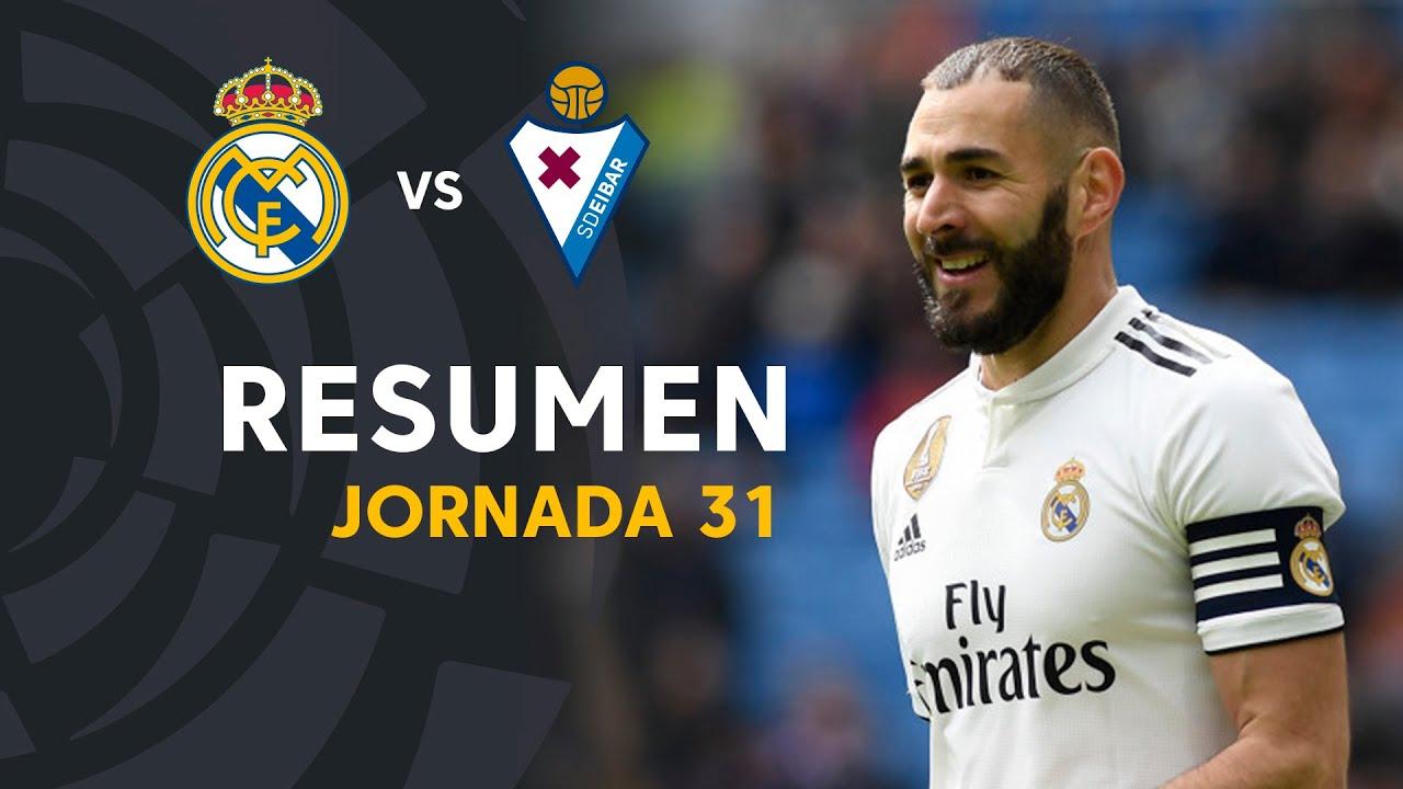 Resumen de Real Madrid vs SD Eibar (2-1)
