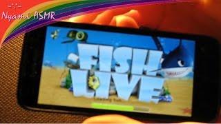 ASMR phone game.АСМР моя игра в аквариум на телефончике. Шепталочка.