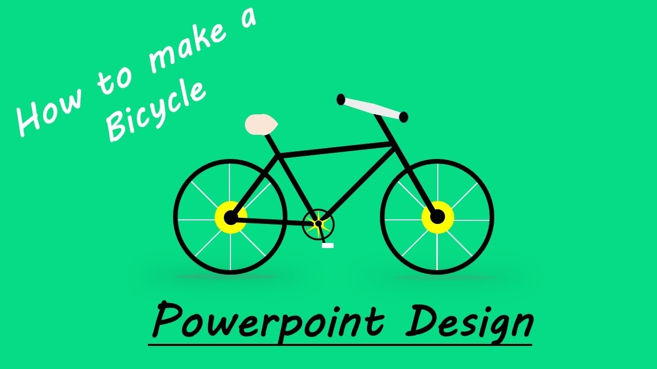 how to create bicycle flat design  bicycle