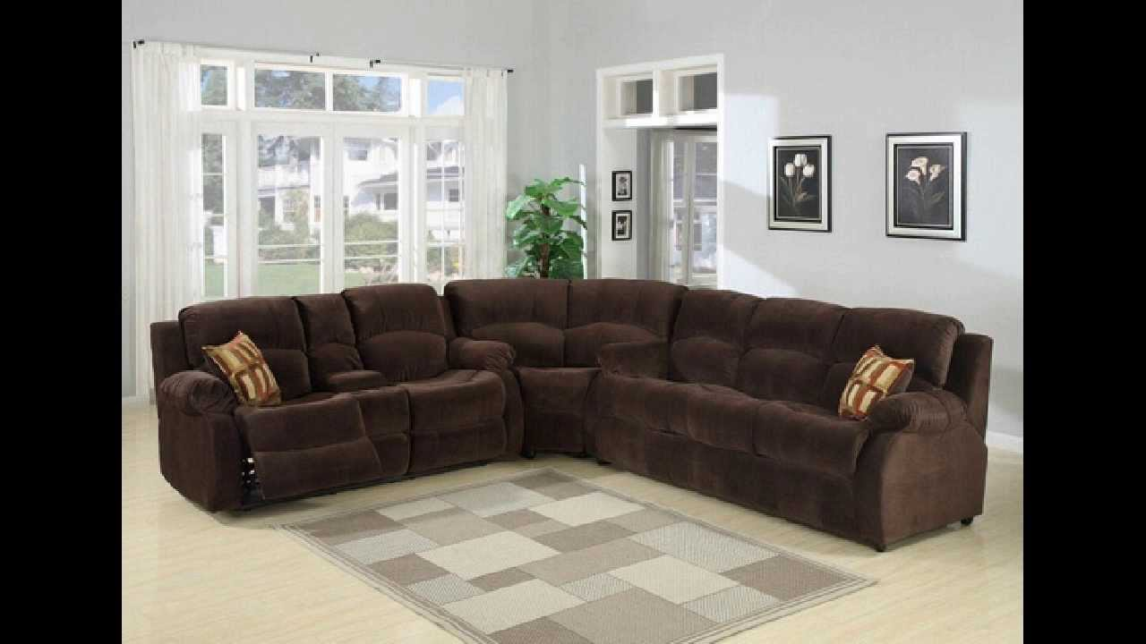 3 pc Tracey chocolate plush microfiber upholstered sectional sofa with recliners - YouTube & 3 pc Tracey chocolate plush microfiber upholstered sectional sofa ... islam-shia.org
