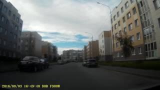 Смотреть видео Видеорегистратор DOD F980W. Звук, цвет, качество записи, тест. Россия, Санкт-Петербург и область онлайн