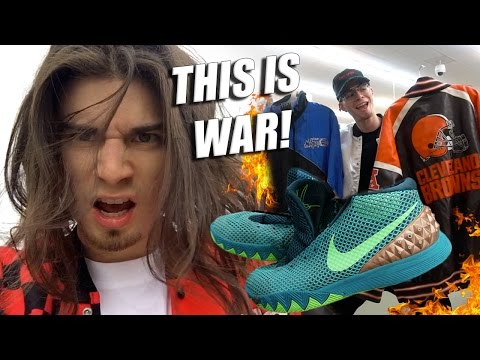 Trip to the Thrift #147 Vanquishing Vintage Hostages!! Kyries, Adidas, Starter, and More!