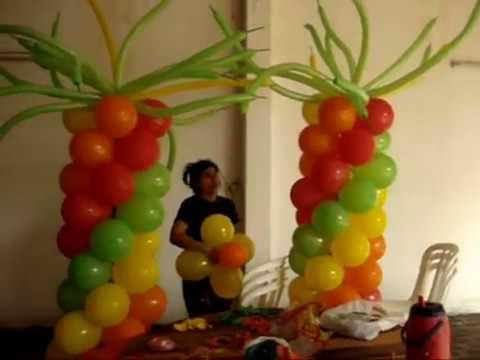 Decoracion con telas para fiestas infantiles paso a paso - Telas para paredes decoracion ...