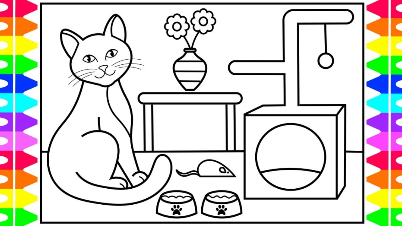 It's just an image of Dashing Cat Drawing For Kid