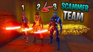 I nearly got SET UP by a team of scammers... 😰 (Scammer Gets Scammed) In Fortnite Save The World