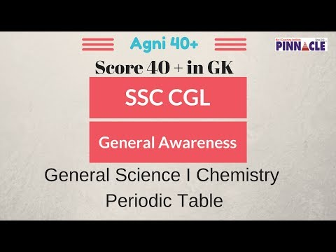 general science - chemistry I periodic table - Score 40 + in GK ssc cgl
