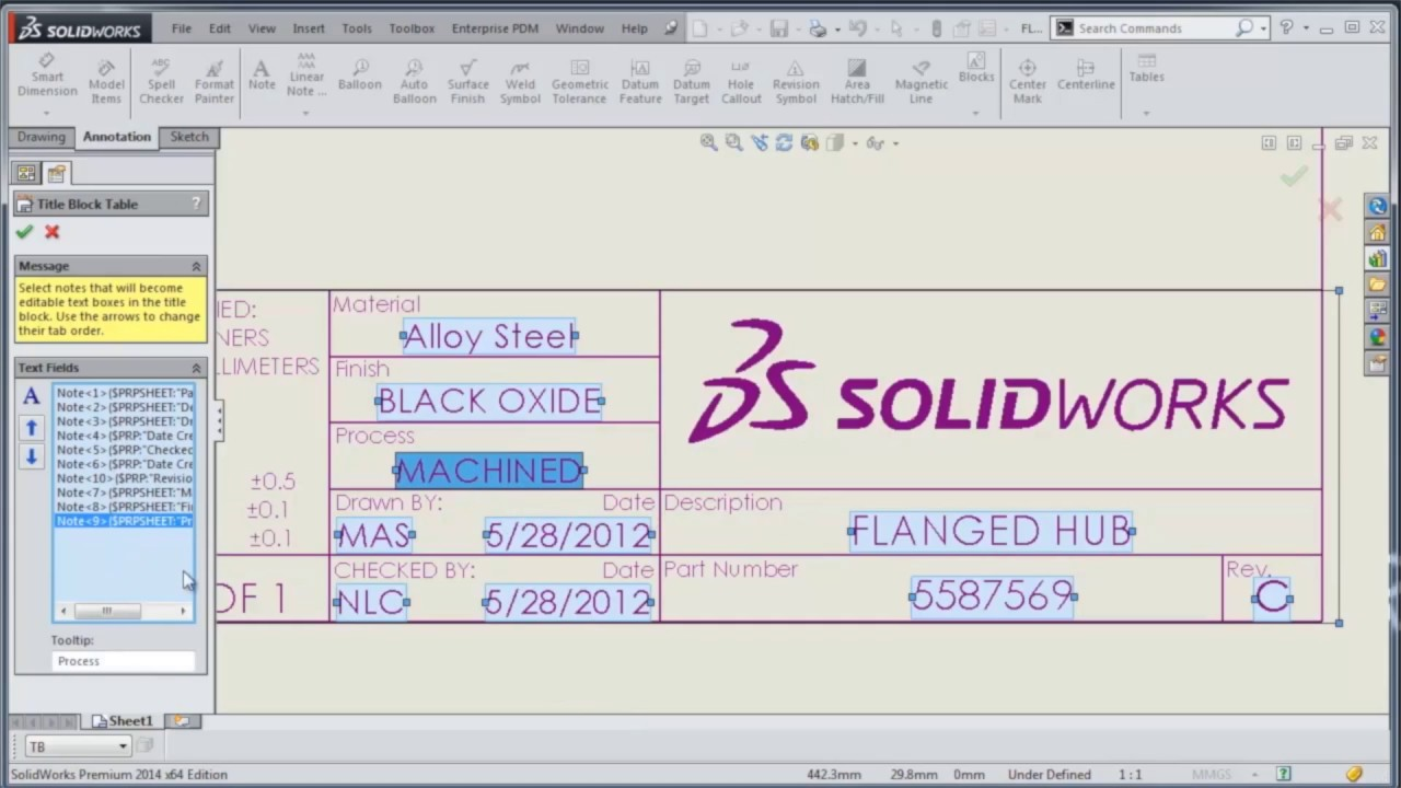 solidworks drawing template tutorial - video tech tip solidworks title block wizard youtube