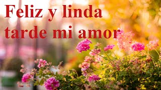 Feliz tarde amor