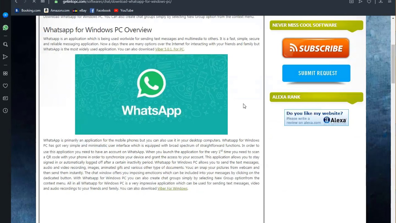 whatsapp download for pc youtube