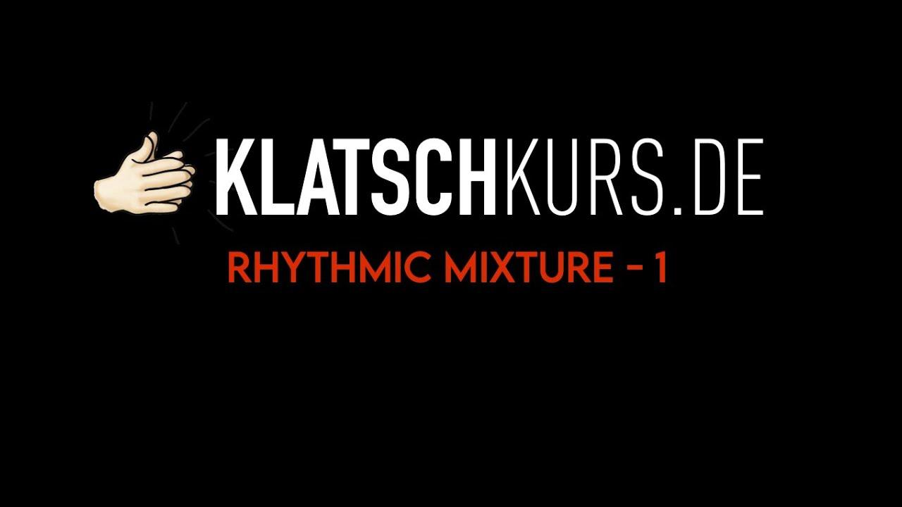 Reading Rhythmic Mixture 1, 70bpm - Klatschkurs - Rhythm Reading - by Kristof Hinz