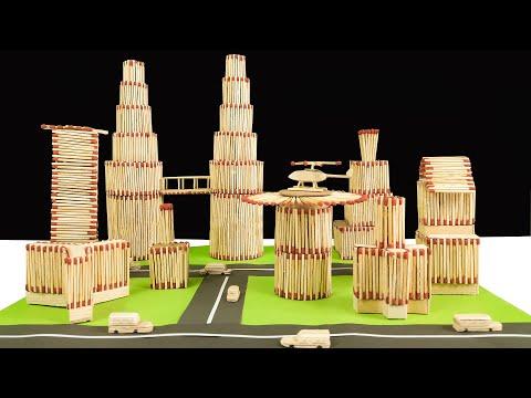 DIY Miniature Modern City With Matchstick-Mini Modern City