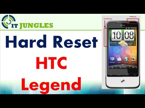 How to Hard Reset HTC Legend Back to Factory Default Settings