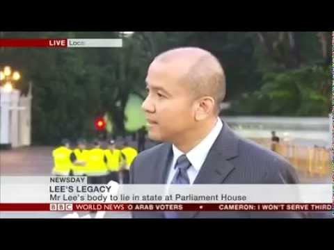 Interviewed about Lee Kuan Yew's legacy, on BBC World News, 24 March 2015