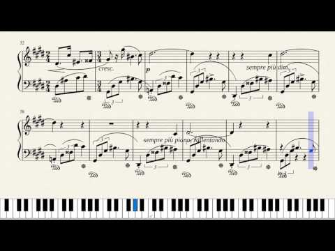 Chopin Nocturne No. 20 in C Sharp Minor, Op. Posth. [Piano Tutorial + Sheets]