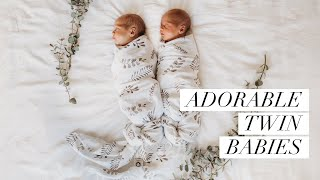 Adorable Newborn Twin Babies  Special Motherhood Moments  Snuggle Hunny Kids