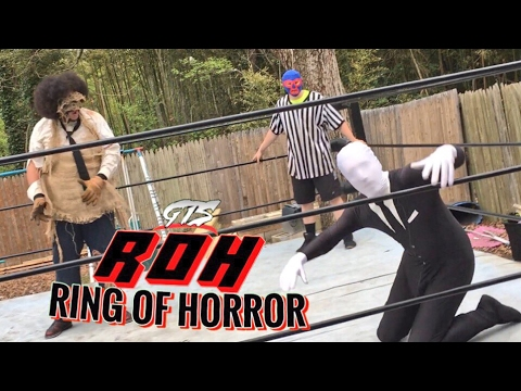 LEATHERFACE VS SLENDERMAN MONSTERS MATCH! GTS WRESTLING SUPERCARD MAIN EVENT CHALLENGE GONE WRONG!