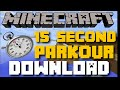 Minecraft PS3, PS4 15 SECOND PARKOUR MAP! DOWNLOAD!