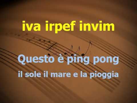 Ping pong Rino Gaetano karaoke