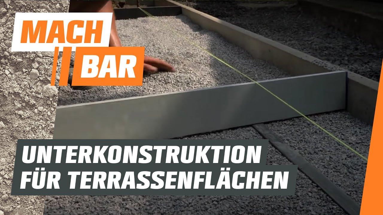 Unterkonstruktion Fur Terrassen Und Pflasterflachen Obi Youtube