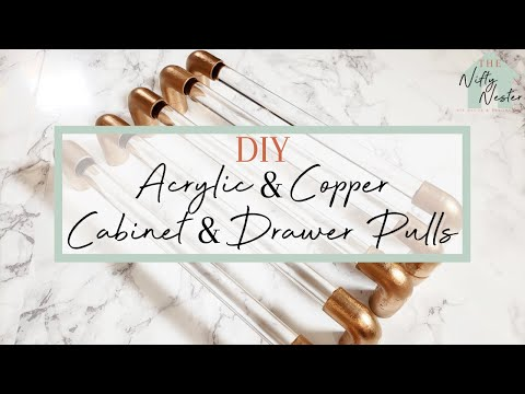 DIY Acrylic And Copper Cabinet & Drawer Pulls | Bathroom Makeover On A Budget