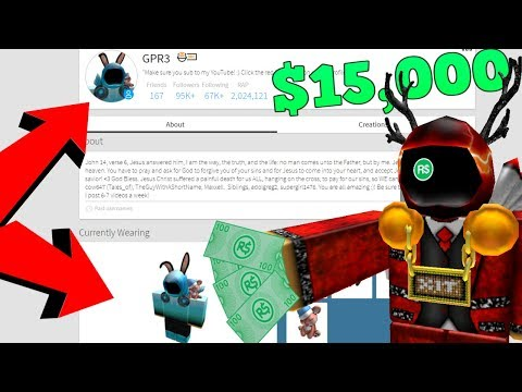 Selling my ROBLOX Account for $15,000+ Dollars!!?