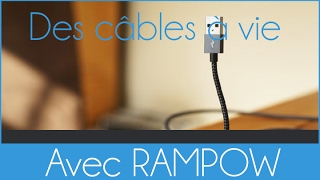 Avoir des chargeurs garanties à vie - Lightning et Micro-usb Rampow