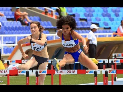 Los 100 metros vallas compeonato mundial juvevil de atletismo cali 2015 Dayana Liseth Ramos