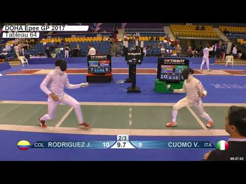 2018 387 M E Individual Doha QAT GP T64 10 green CUOMO ITA vs RODRIGUEZ COL