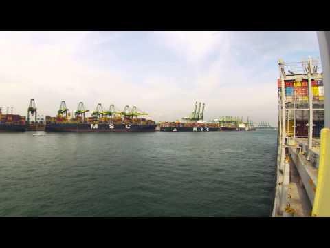 Singapore port timelapse