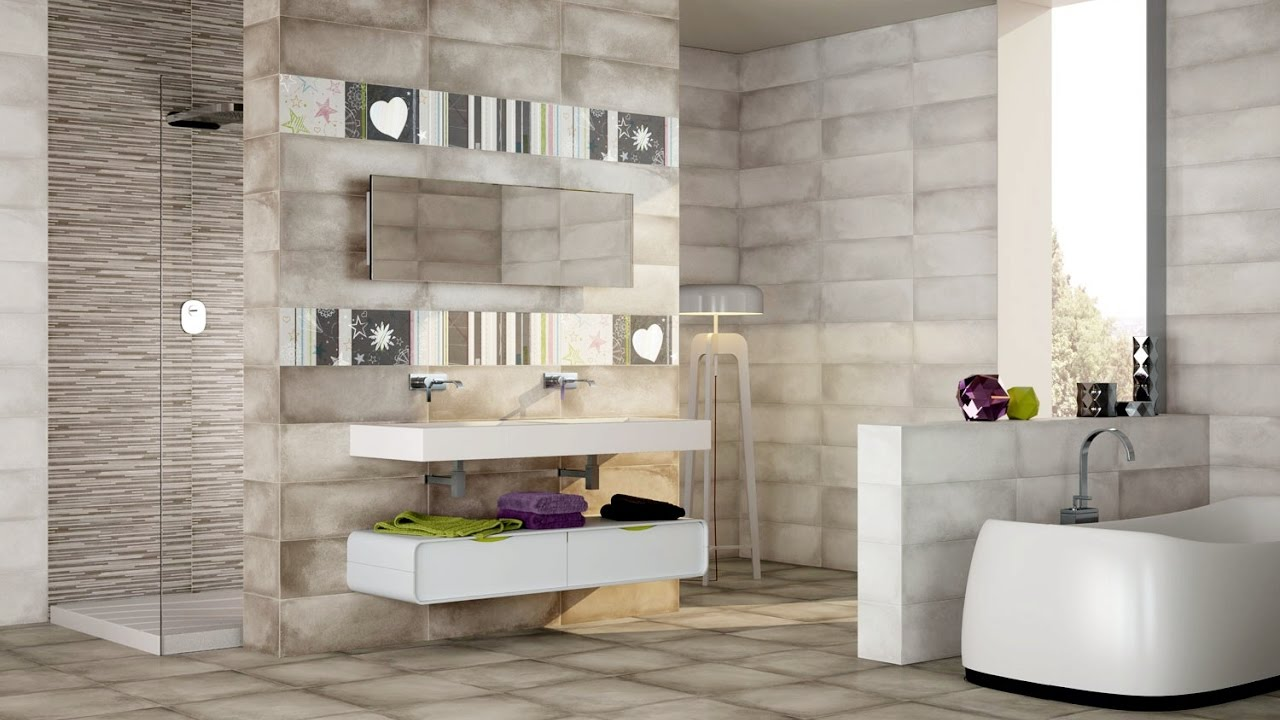 bathroom wall and floor tiles design ideas - YouTube