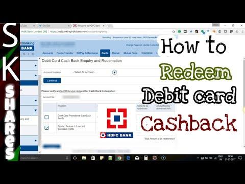 How to redeem HDFC debit card cashback points through HDFC Netbanking