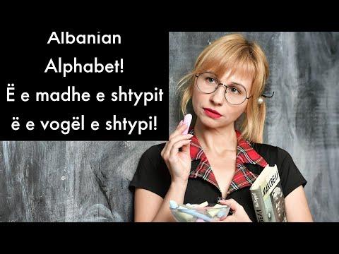 Alfabeti i gjuhes Shqipe, Albanian alphabet
