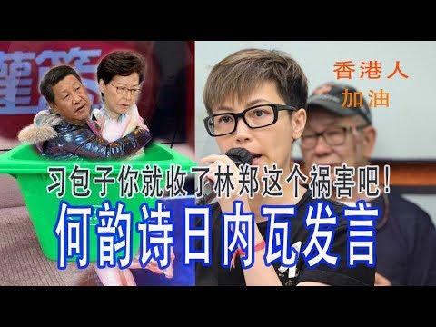 香港何韵诗联合国人权委员会控诉,林郑今天宣布送中法案彻底死亡!