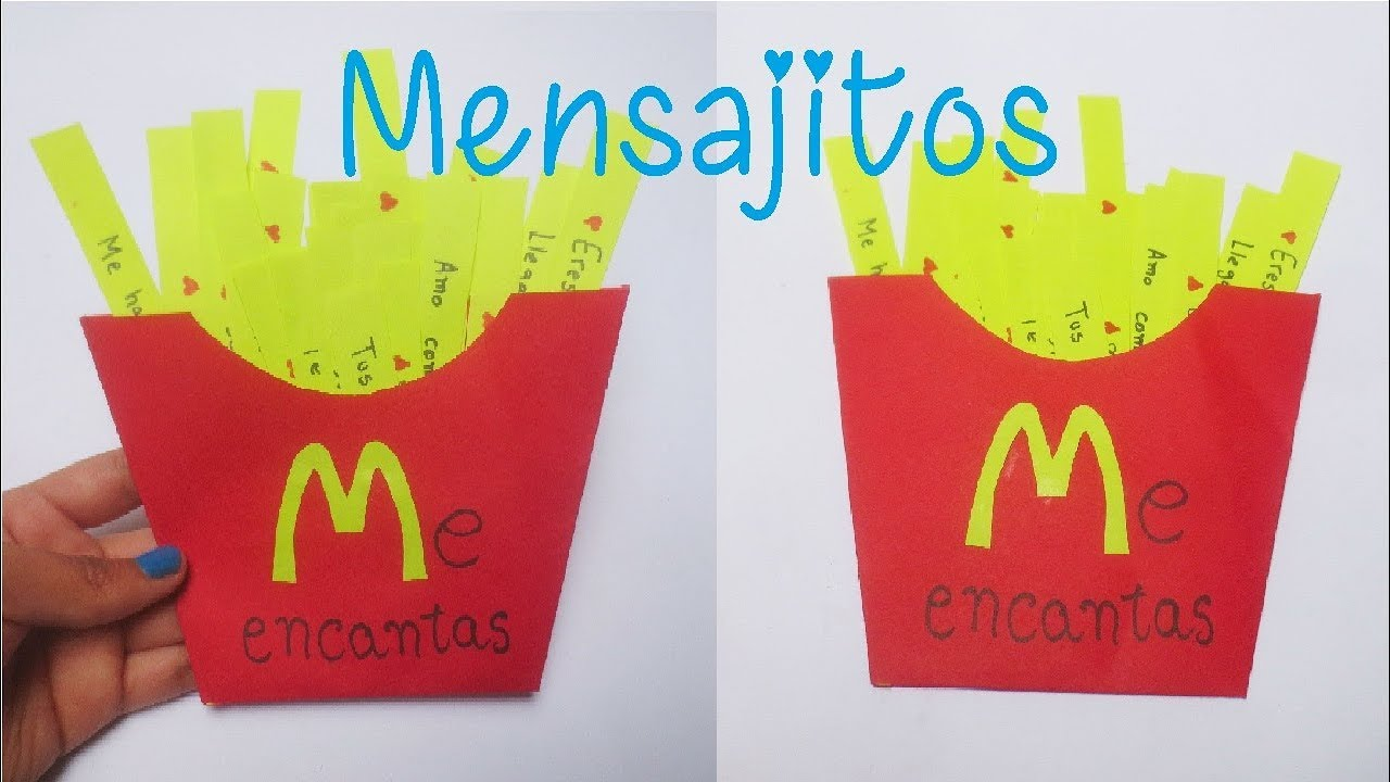Mensajitos De Amor Papas Fritas Mc Donald Diy San Valentin Youtube