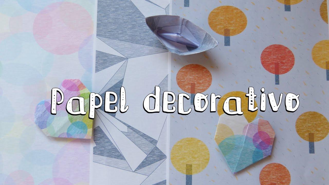 C mo hacer papel decorativo para imprimir origami scrapbooking youtube - Papel autoadhesivo decorativo ...