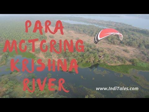 Paramotoring or Powered Paragliding Adventure activities on Krishna River in Amaravati