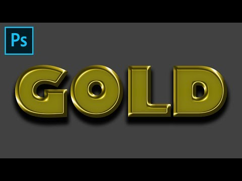 Shiny gold letters (PHOTOSHOP TUTORIAL) thumbnail