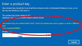 How to fix Windows 10 activation error code 0xc004f050