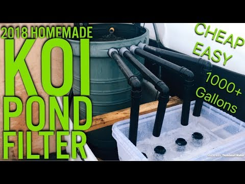 fully homemade new filter on the new indoor 1200 gallon koi pond detailed tour - first video of 2018
